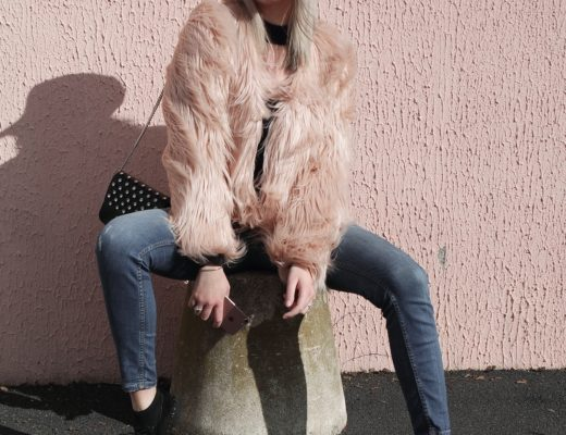 pink faux fur