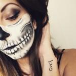 Halloween Skull Makeup ! 2015
